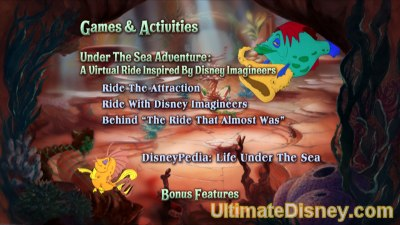 The Little Mermaid: Platinum Edition - Disc 2's Games & Activities Menu