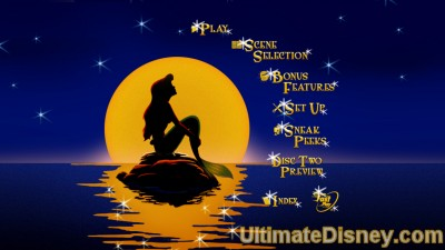 The Little Mermaid: Platinum Edition - Disc 1's Main Menu