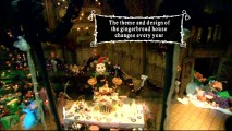 In a first, you can experience a Disney Parks attraction in a professional video with this Haunted Mansion Holiday ride-through. Here, the trivia track mentions the gingerbread house's changing nature.