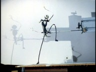 Jack Skellington prances around with armature support in his animation test reel.