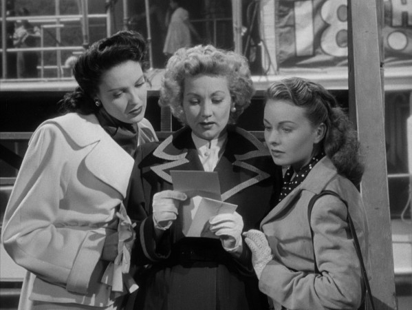 "Three wives (Linda Darnell, Ann Sothern, and Jeanne Crain) receive a letter from a mutual friend in ""A Letter to Three Wives."""