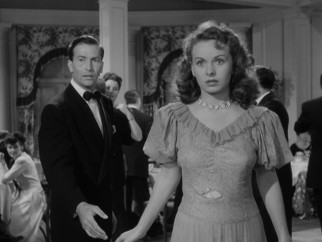 Deborah (Jeanne Crain) is devastated when the hole in her old dress is uncovered at a fancy event she attends with her socialite husband (Jeffrey Lynn).