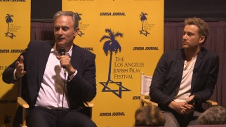 Director Giulio Ricciarelli and star Alexander Fehling answer a host and audience questions at the Los Angeles Jewish Film Festival.