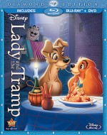 Lady and the Tramp: Diamond Edition Blu-ray + DVD combo cover art - click to buy from Amazon.com
