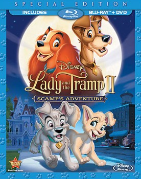 Lady and the Tramp II: Scamp's Adventure Special Edition Blu-ray + DVD cover art - click to buy combo pack from Amazon.com