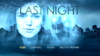 The smiling face of Keira Knightley is placed over a Manhattan skyline on the DVD's animated main menu.