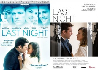 Last Night DVD and movie poster