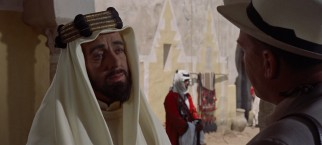 With some help from skin-darkening make-up David Lean regular Alec Guinness shows off his range as the Arab prince Feisal.
