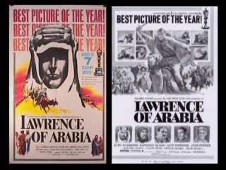 "A poster and print ad talk up Lawrence of Arabia's Best Picture Oscar win in ""Advertising Campaigns."""