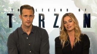"Alexander Skarsgård and Margot Robbie stand up for the endangered African elephant in ""Stop the Ivory."""
