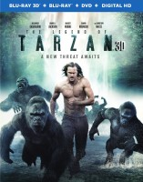 The Legend of Tarzan: Blu-ray 3D + Blu-ray + DVD + Digital HD combo pack cover art -- click to buy from Amazon.com