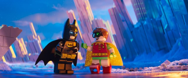 "Batman and his eager young sidekick Robin show up unannounced at Superman's Fortress of Solitude in ""The Lego Batman Movie."""
