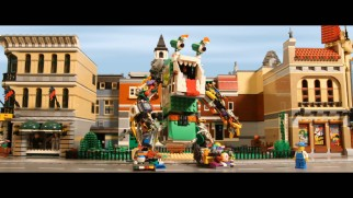 Garbage assembles into a giant monster in the second place winning fan-made stop-motion Lego short.
