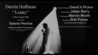 Lenny's theatrical trailer credits the film's key personnel.