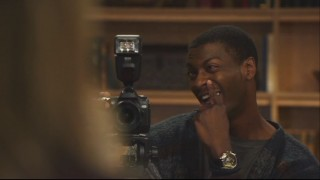 "Aldis Hodge goofs around on the set of ""Leverage,"" as seen in the 3rd Season gag reel."