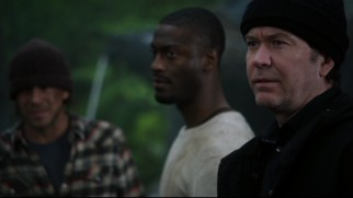 Nate (Timothy Hutton) joins Hardison and Elliot in the trenches to bust some bad guys.
