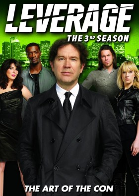 Leverage: The 3rd Season DVD cover art -- click to buy from Amazon.com