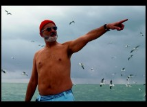Bill Murray points as Steve Zissou in a gallery image.