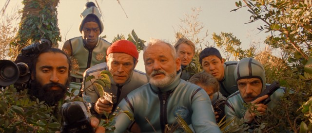 Team Zissou scouts out the abandoned Ping Island hotel from which they hope to rescue their bond company stooge.