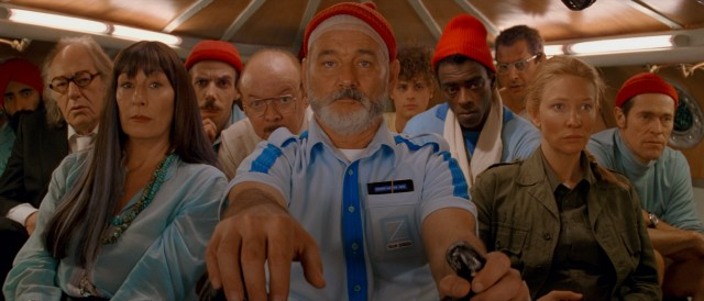 Steve Zissou (Bill Murray) and his crew go deep down in the ocean in search of a jaguar shark.