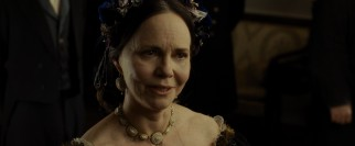 Mary Todd Lincoln (Sally Field) dials down her crazy to insult a Republican congressman visiting her house.