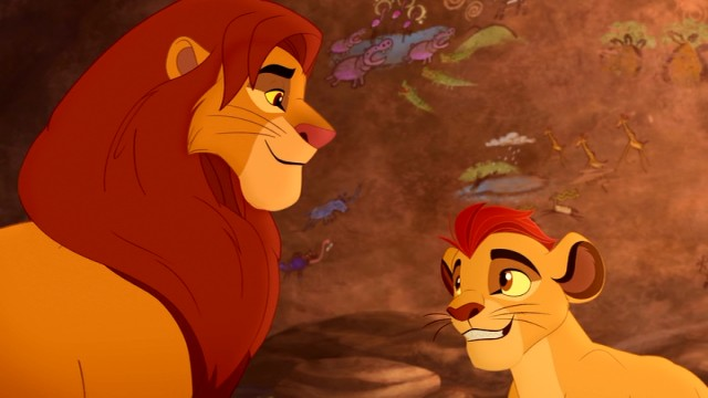 Simba tells his son Kion all about the Lion Guard, which is news to us as well.