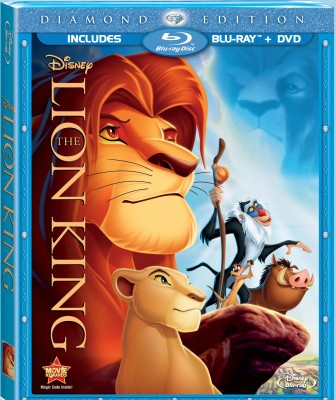 The Lion King: Diamond Edition Blu-ray + DVD cover art