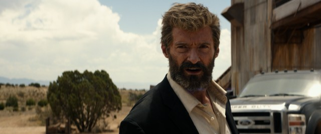 "In ""Logan."", Hugh Jackman's mutant superhero Wolverine is a grizzled, old driver."