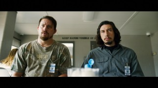 The Logan brothers (Channing Tatum and Adam Driver) listen to Joe Bang at greater length in this extended scene.