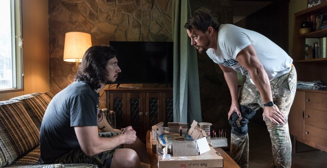 "In ""Logan Lucky"", unlucky brothers Clyde (Adam Driver) and Jimmy (Channing Tatum) plot to rob the Charlotte Motor Speedway."