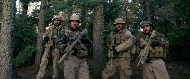 "In ""Lone Survivor"", four Navy SEALs (Taylor Kitsch, Mark Wahlberg, Ben Foster, and Emile Hirsch) run into trouble on a mission in Afghanistan."