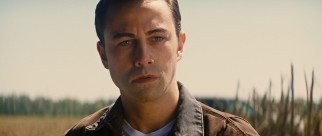 In an effort to more closely resemble Bruce Willis, Joseph Gordon-Levitt looks a little bit off as the young Joe.