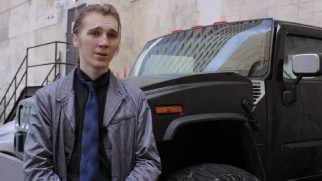 In costume, Paul Dano discusses realizing his desire to work with Rian Johnson in a featurette.