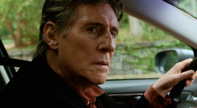 "Gene Reed (Gabriel Byrne) tails his teenaged son in ""Louder Than Bombs."""