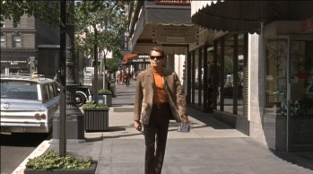 Dean Jones enjoys a groovy stroll along a San Francisco sidewalk.