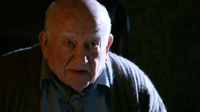 Ed Asner plays Gabriel Morgan, Kennedy's cranky, bitter, estranged grandfather.