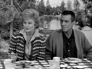 """Kids today..."", think June (Barbara Billingsley) and Ward Cleaver (Hugh Beamont) on a family picnic."
