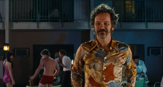Peter Sarsgaard turns up the sleaze as Chuck Traynor, Lovelace's hands-on manager and abusive husband.