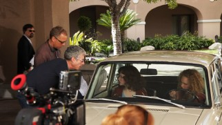 "Rob Epstein and Jeffrey Friedman direct Amanda Seyfried and Juno Temple in tandem in ""Behind 'Lovelace.'"""