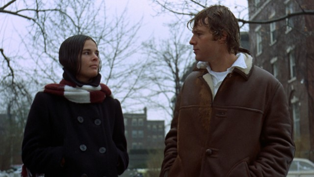 Soaked by rain, Jennifer Cavalleri (Ali MacGraw) finally confesses her feelings for Oliver Barrett IV (Ryan O'Neal).