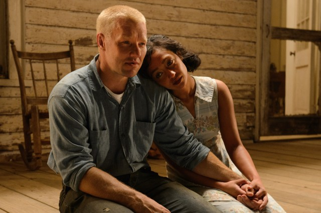 "Richard and Mildred Loving (Joel Edgerton and Ruth Negga) stick together despite the challenges they face in ""Loving."""