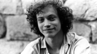 A picture of Gary Sinise in his younger days features in a segment explaining how he moved from music to theatre in high school.