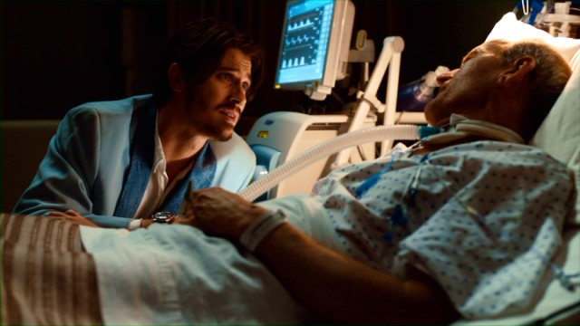 "In ""Lullaby"", a young man (Garrett Hedlund) visits his dying father (Richard Jenkins)."