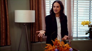 Karen (Jessica Findlay Brown) argues passionately against euthanasia in an attempt to change her father's mind.