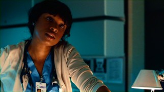 Jennifer Hudson, the cast's lone Oscar winner, plays impatient, unhelpful Nurse Carrie.