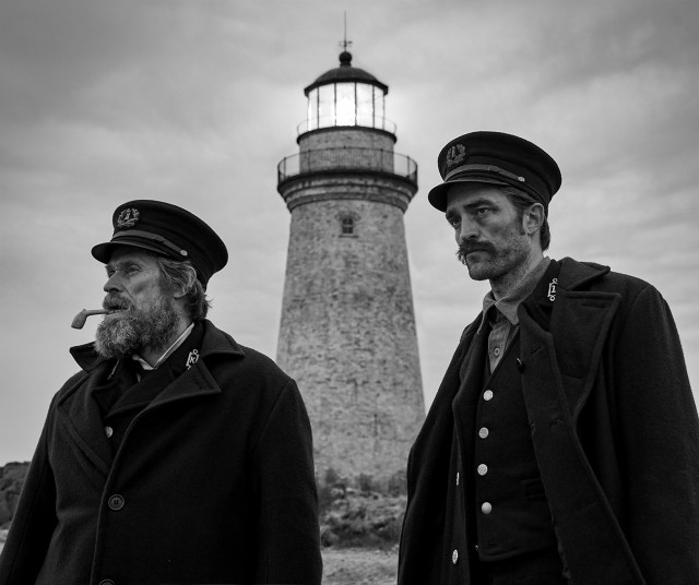 "Willem Dafoe and Robert Pattinson play lighthouse keepers in Robert Eggers' ""The Lighthouse"", one of the best films of 2019."