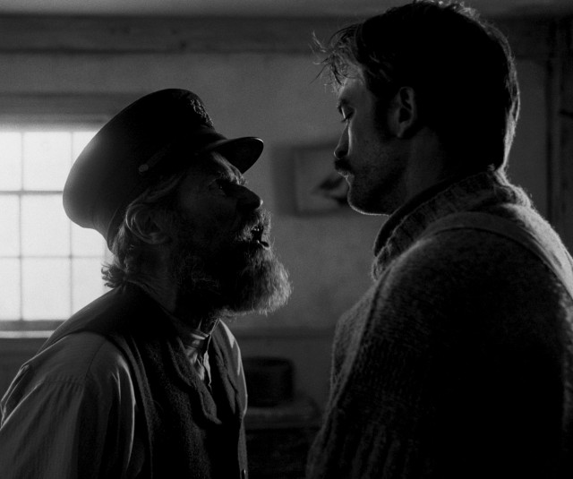 After weeks in close proximity with no other interaction, Thomas Wake (Willem Dafoe) and Ephraim Winslow (Robert Pattinson) develop some cabin fever.