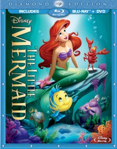 The Little Mermaid: Blu-ray + DVD cover art