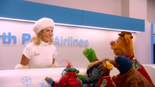 North Pole Airlines and its ticket agent Joy (Uma Thurman) appear to be the best bet for getting the gang to Santa Claus.