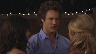 Carter (Zachary Abel) plays the dumb card when Lauren makes certain suggestions about the two of them in front of Kaylie.